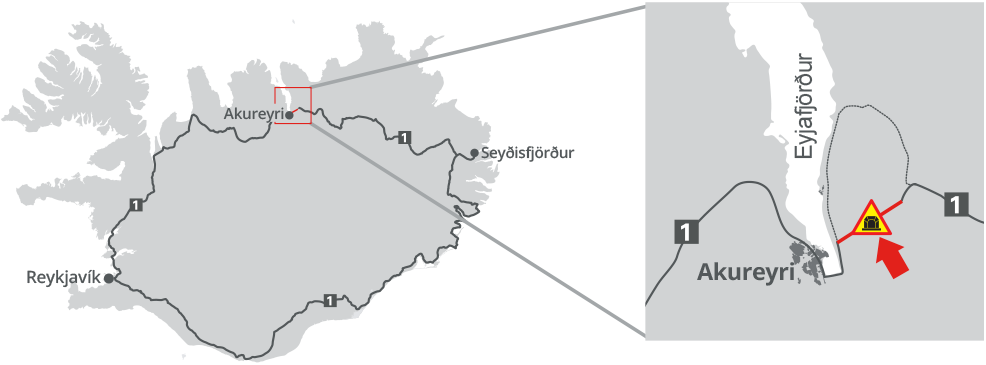 Vadlaheidi tunnel location
